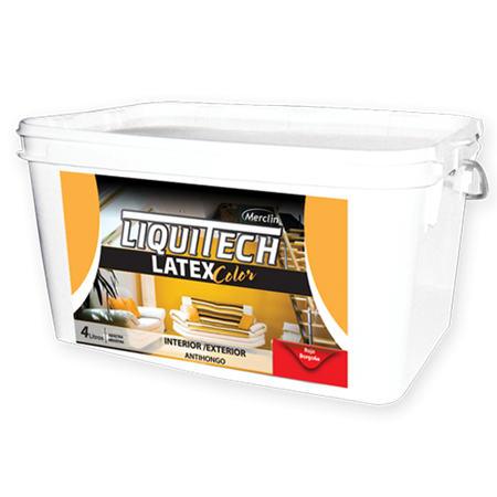 Liquitech Latex Interior Exterior Color x 1 Litro  - Bermellón